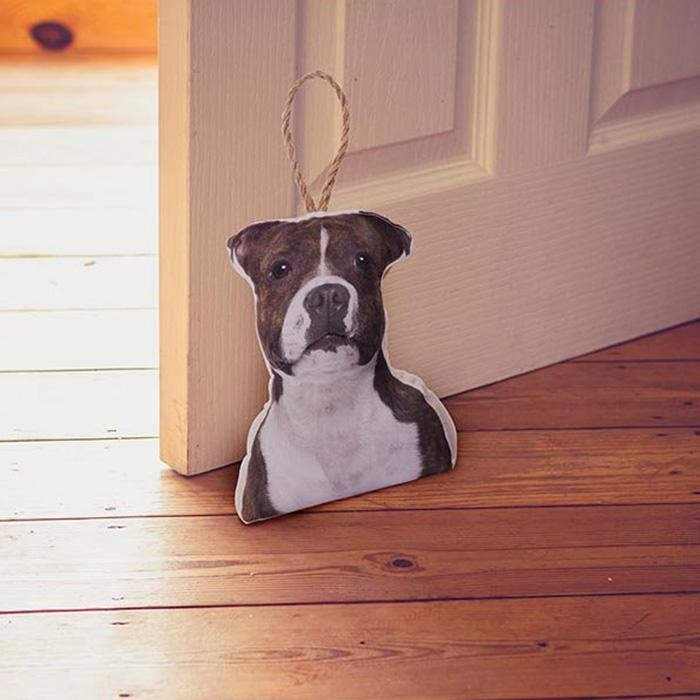 IS Photo-Realistic Dog & Cat Doorstops Staffy