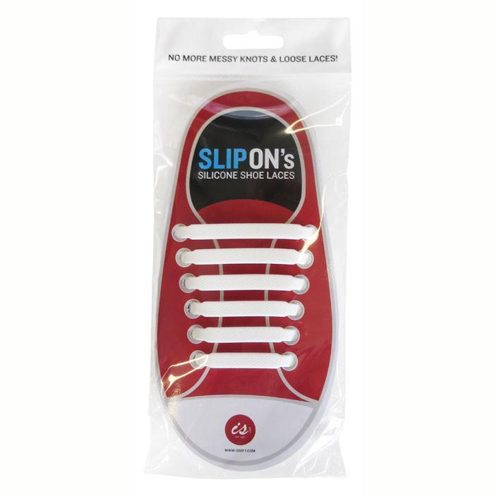Slip On Silicon Shoelaces | White - - IS - Yellow Octopus