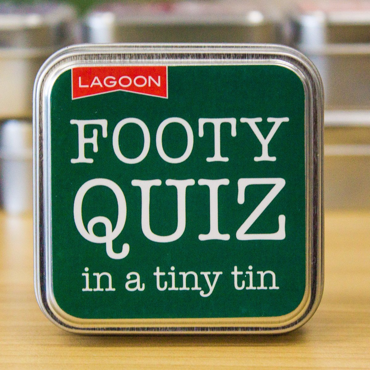 Lagoon Tabletop Fun in a Tin - 8 To Choose From! Soccer Quiz
