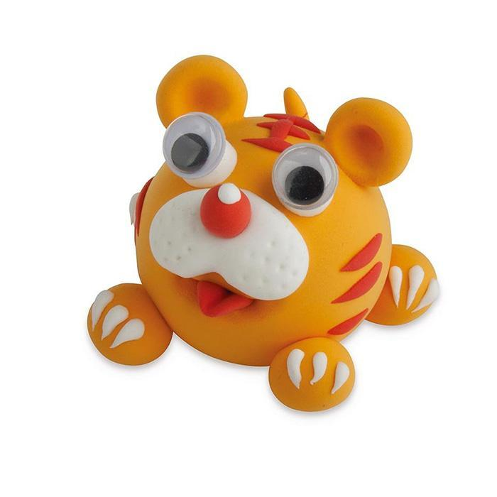Zoo Animals Super Putty - Tiger - IS - Yellow Octopus