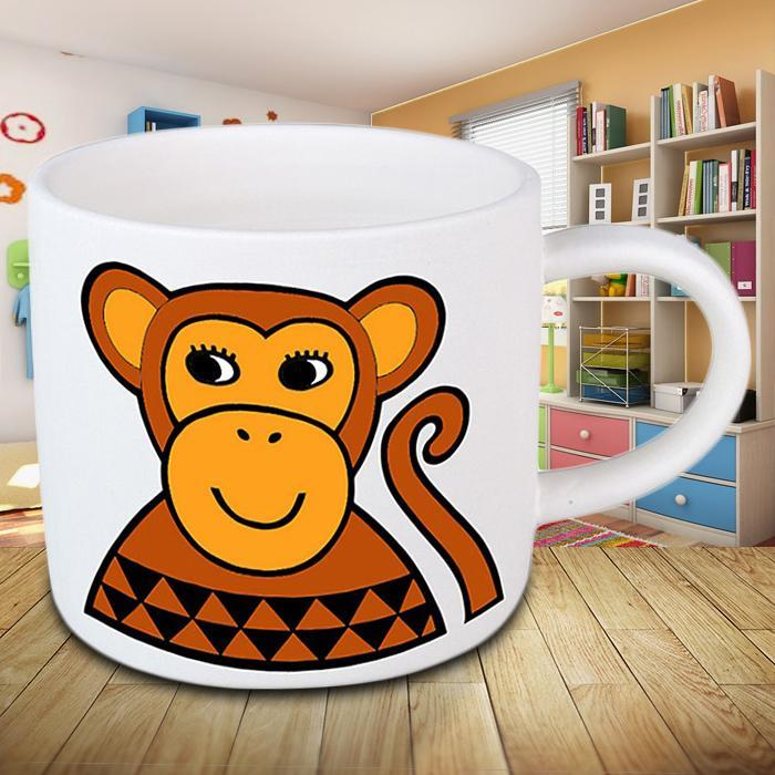 Monkey Kids Mini Mug - - Jane Foster - Yellow Octopus