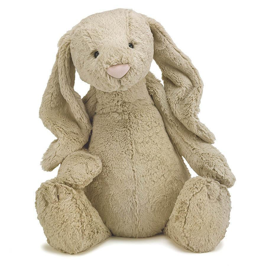 Jellycat Beige Bashful Bunny - Enormous (Really Big) 66cm - JellyCat - Yellow Octopus