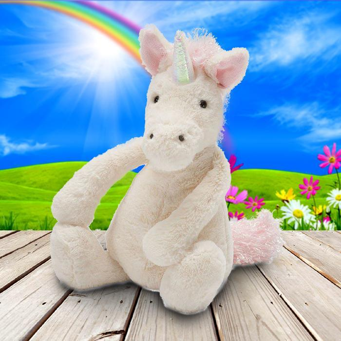 Jellycat Bashful Unicorn - Medium - JellyCat - Yellow Octopus