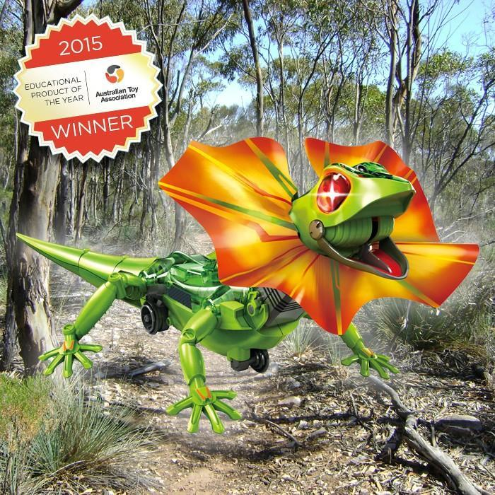 Build Your Own Frilled Lizard Robot - - Johnco - Yellow Octopus