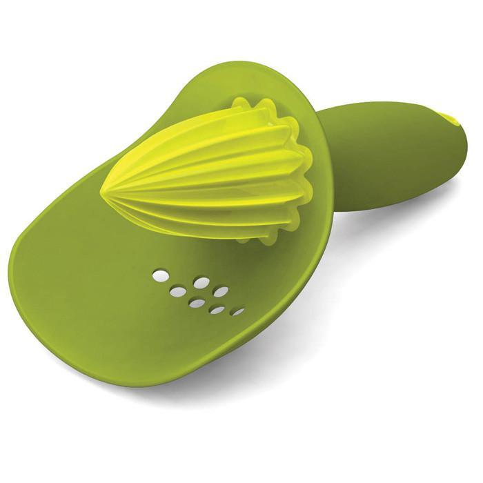 Joseph Joseph Joseph Joseph Hand-Held Citrus Juicer with Pip Catcher Green