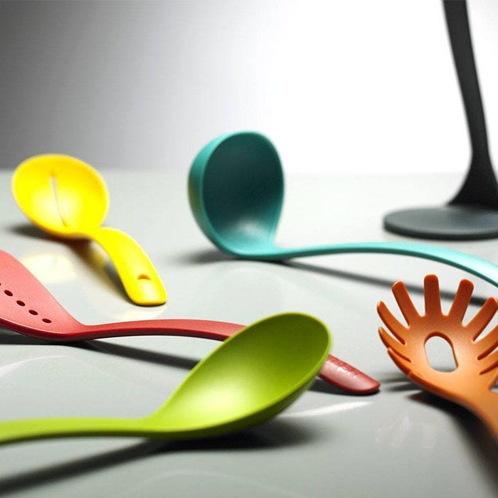 Joseph Joseph Nest Utensils Plus Stackable Kitchen Tools - Rainbow - Joseph Joseph - Yellow Octopus