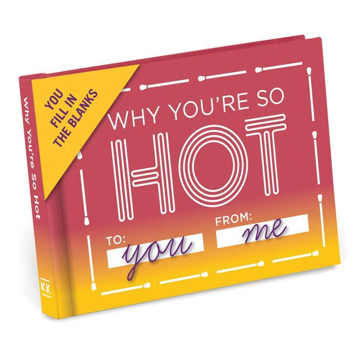 Why You're So Hot - Fill In The Blanks Journal - - Knock Knock - Yellow Octopus