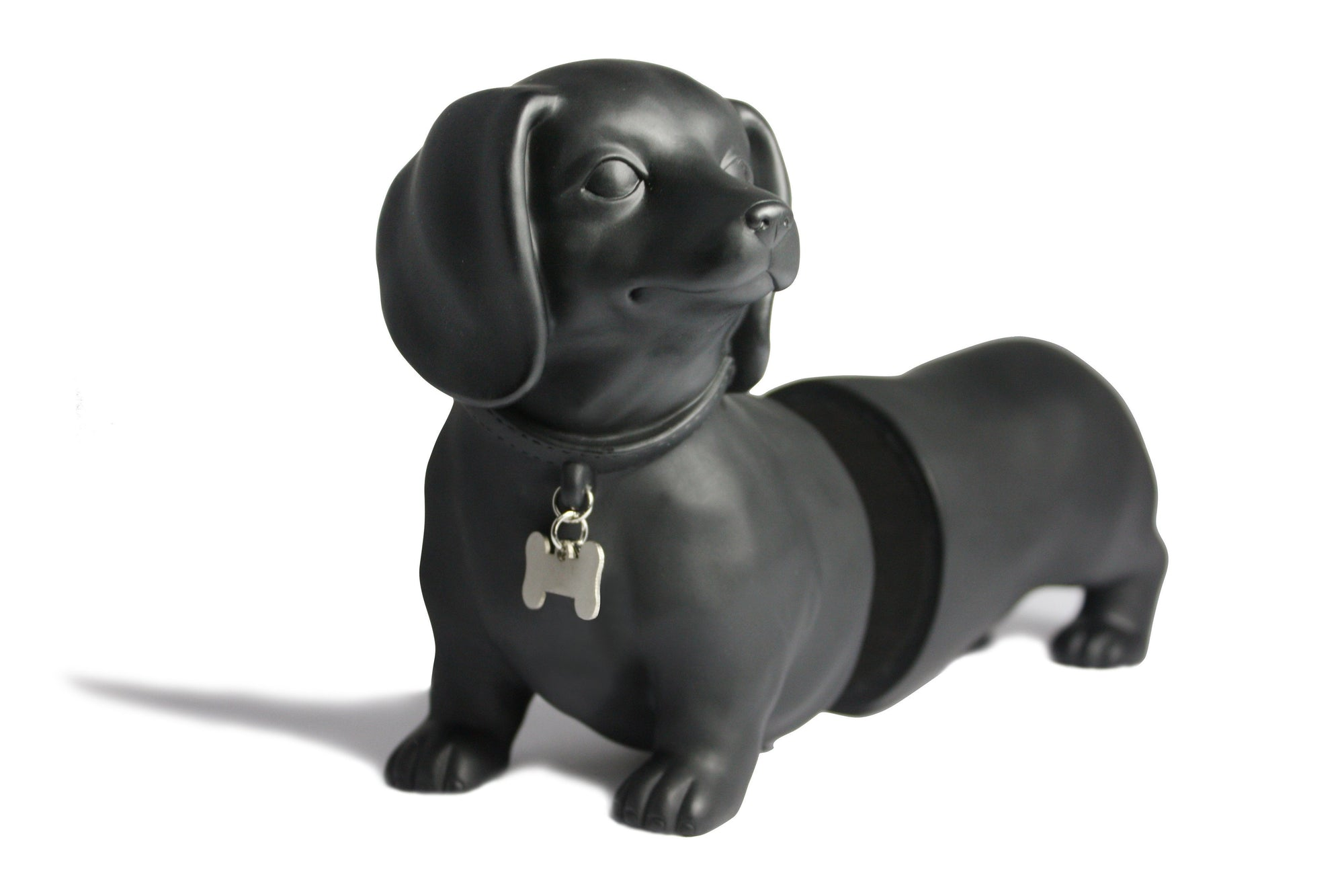 Sausage Dog Dachshund Bookends - Black - kuyesa DESIGN - Yellow Octopus