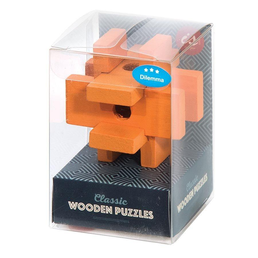Lagoon Classic Wooden Puzzles - Collect Them all! Orange & Blue