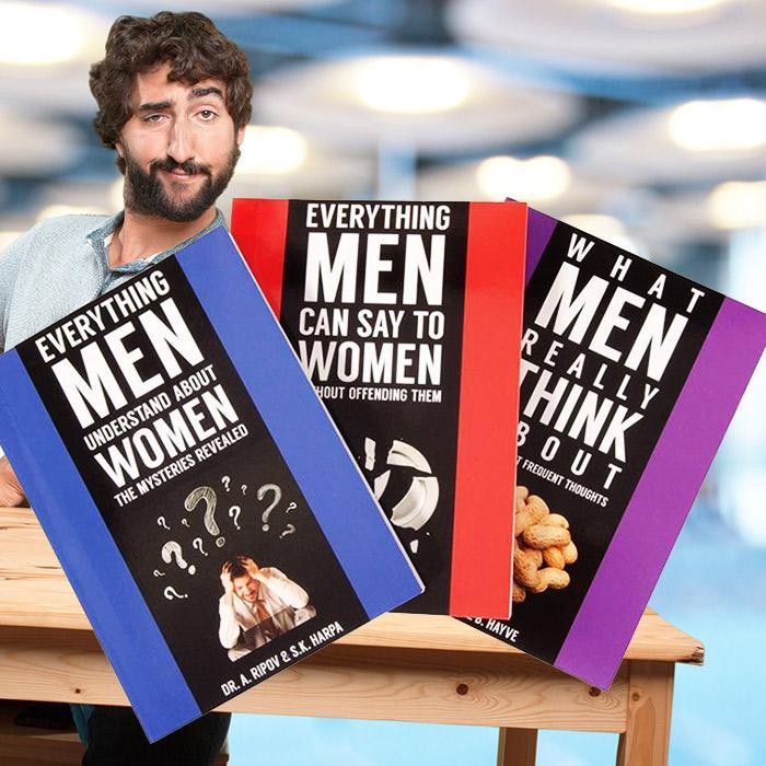 Everything Men Understand About Women Prank Book - - Lagoon - Yellow Octopus