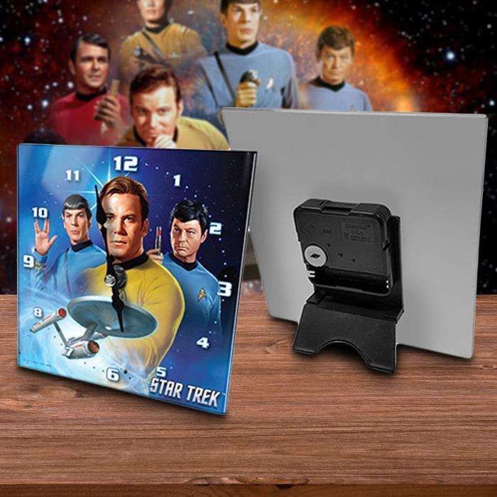 Licensing Essentials Classic Star Trek Glass Desk Clock