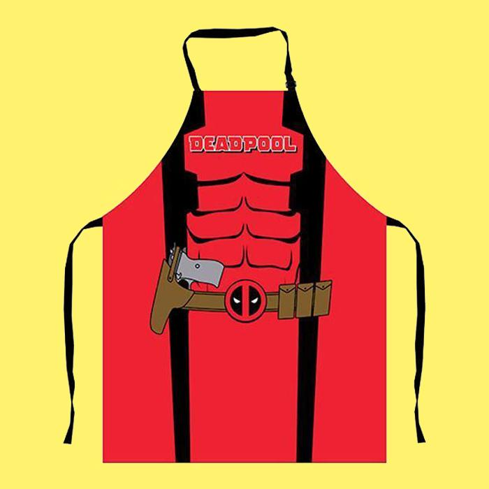 Marvel Deadpool Mens BBQ Apron - - Marvel - Yellow Octopus