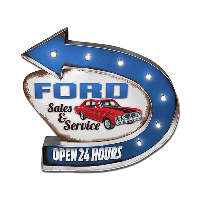Ford Ford Service Light Up Tin Sign