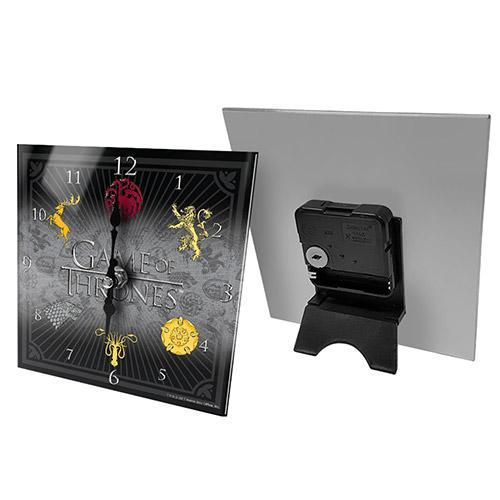 Licensing Essentials Game of Thrones Glass House Sigils Clock