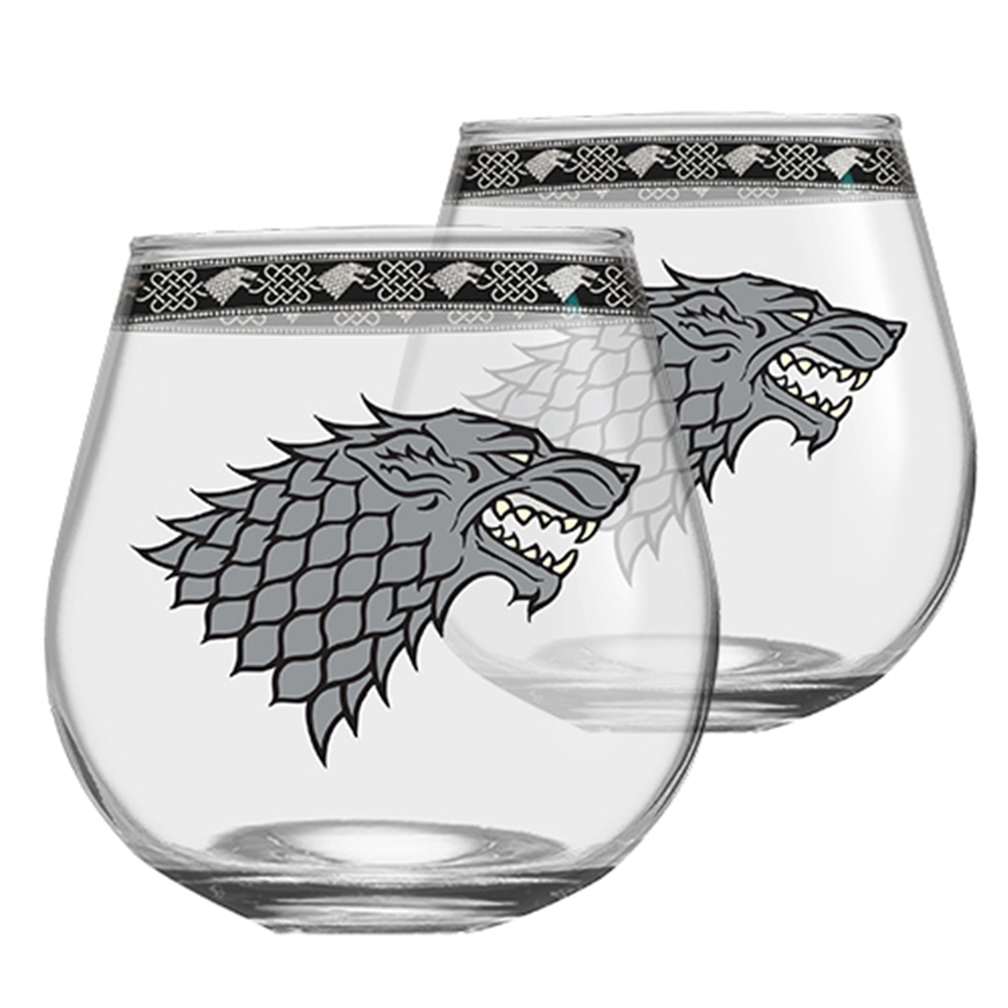 Licensing Essentials Game of Thrones House Stark Globe Glasses