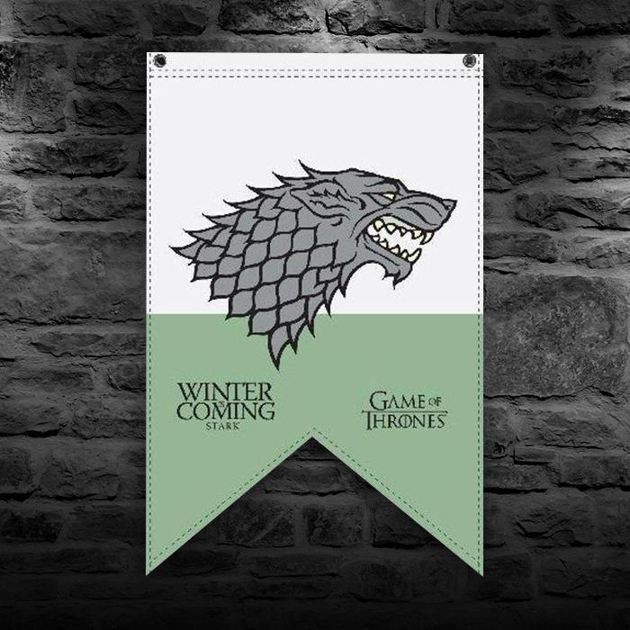 Game of Thrones Stark Banner Wall Flag - - HBO - Yellow Octopus