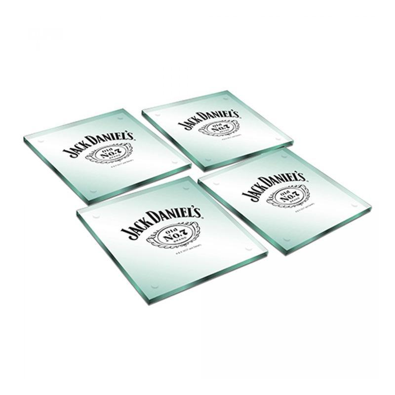 Jack Daniels Jack Daniel's Set of 4 Glass Coasters