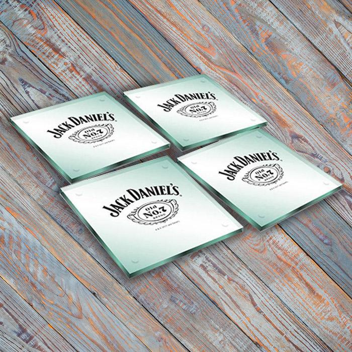 Jack Daniel's Set of 4 Glass Coasters