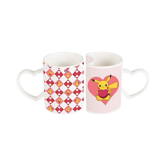 Pokemon Pikachu Set of 2 Heart Mugs