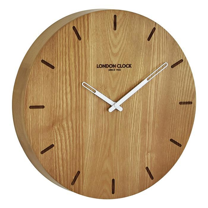 London Clock Eldis Solid Wood Wall Clock 33cm - - London Clock Company - Yellow Octopus