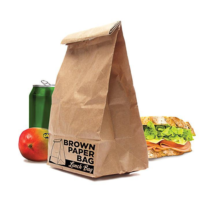 Luckies of London Reusable Insulated Brown Paper Lunch Bag