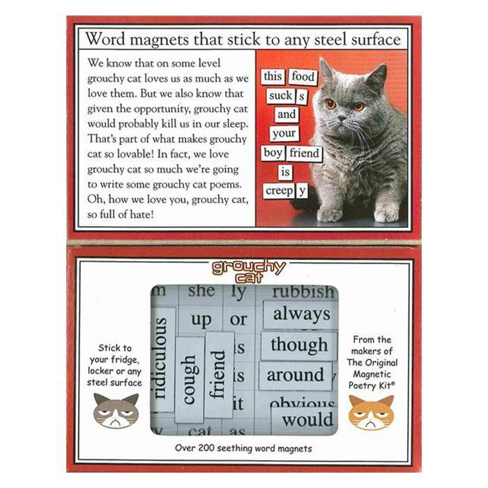 Magnetic Poetry Grouchy Cat Fridge Magnet Poetry Kit