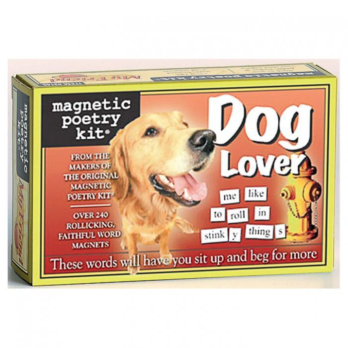 The Original Magnetic Poetry Kits - Dog Lover - Magnetic Poetry - Yellow Octopus