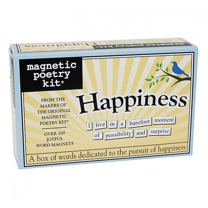 The Original Magnetic Poetry Kits - Happiness - Magnetic Poetry - Yellow Octopus