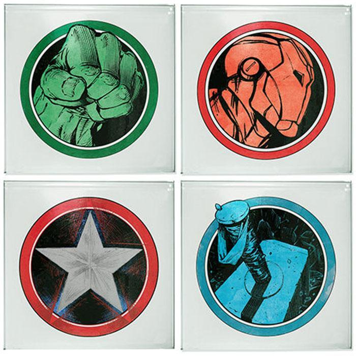The Avengers Coasters - 4 Pack - - Marvel - Yellow Octopus