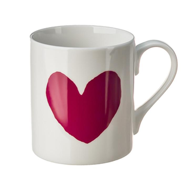 A Coffee Mug With A Big Red Heart - - McGlaggan Smith - Yellow Octopus