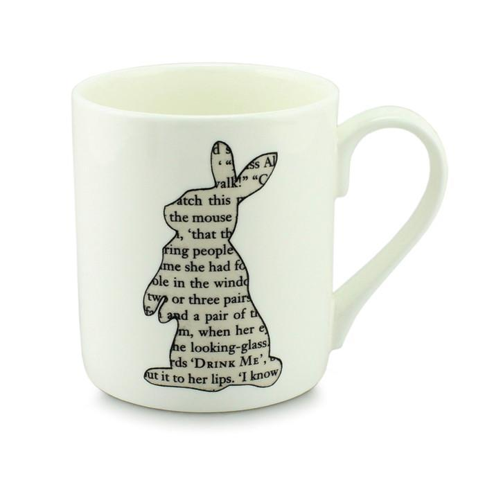 Alice in Wonderland White Rabbit Mug - - McGlaggan Smith - Yellow Octopus