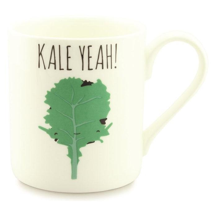 Kale Yeah Mug - - McGlaggan Smith - Yellow Octopus