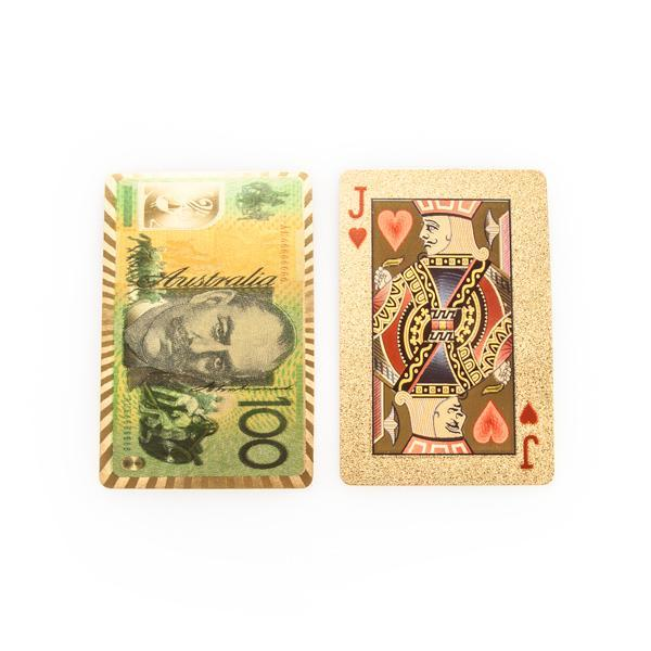 24 Carat Gold Plated $100 Bill Playing Cards - - mdi - Yellow Octopus
