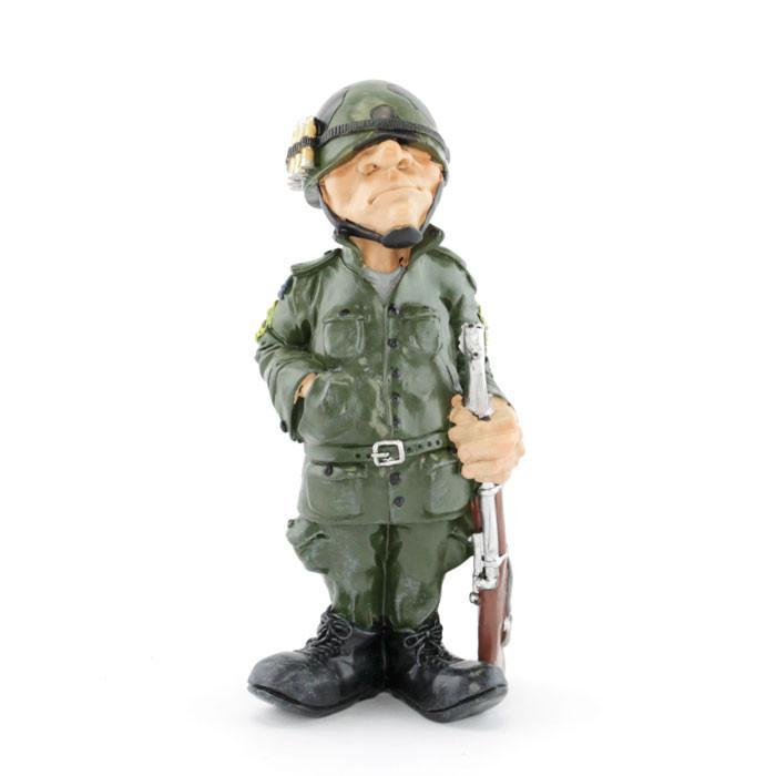 Army Soldier Ceramic Figurine - - mdi - Yellow Octopus