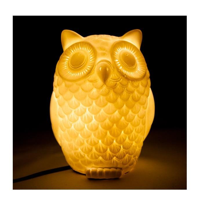 Owl LED Lamp - - mdi - Yellow Octopus