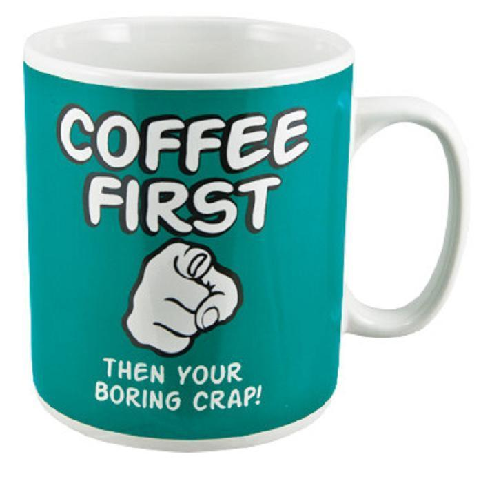 Coffee First Giant Mug - - mdi - Yellow Octopus