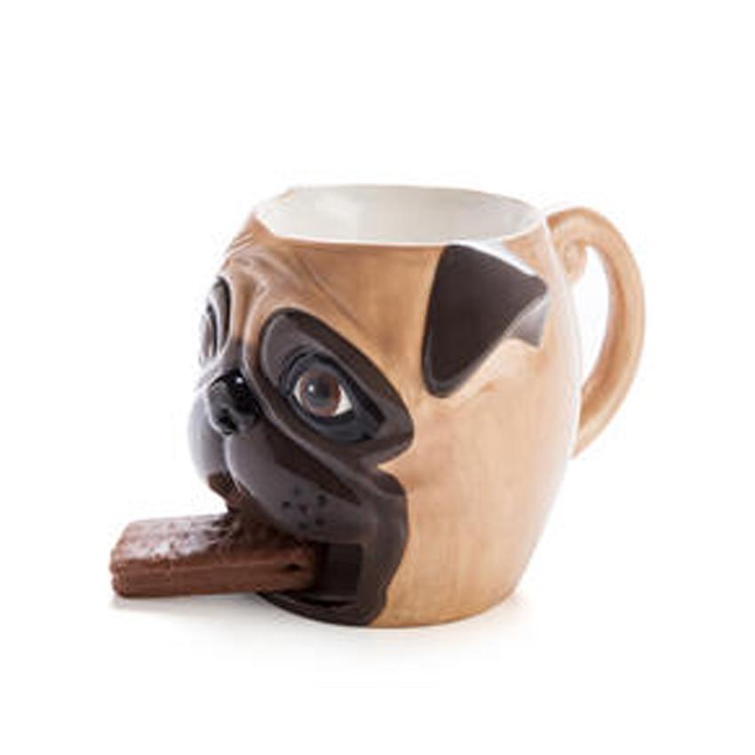 mdi Cute 'Break Mates' Pug Mug & Cookie Holder