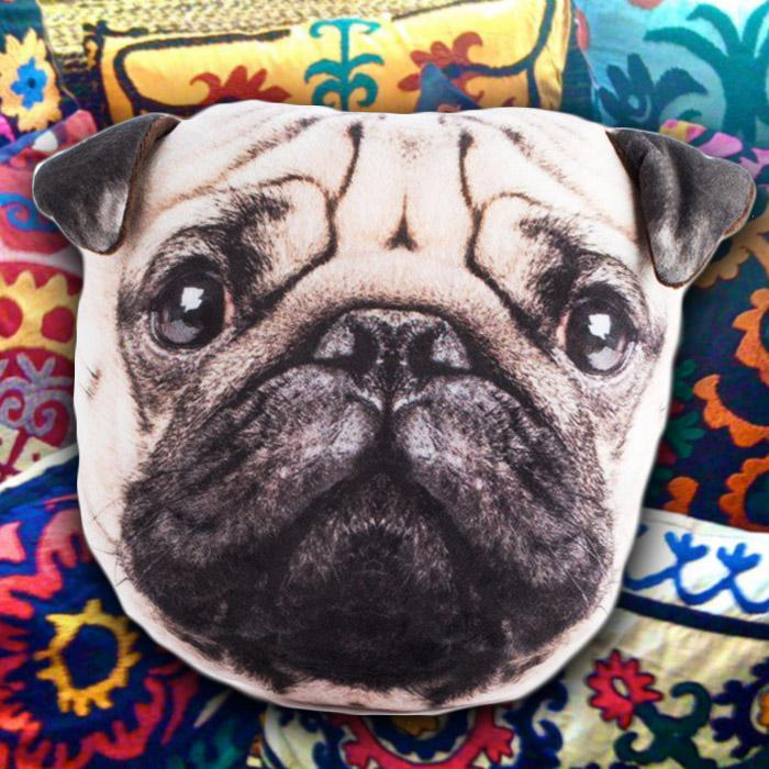 mdi Cute & Cuddly Plush Pug Pillow