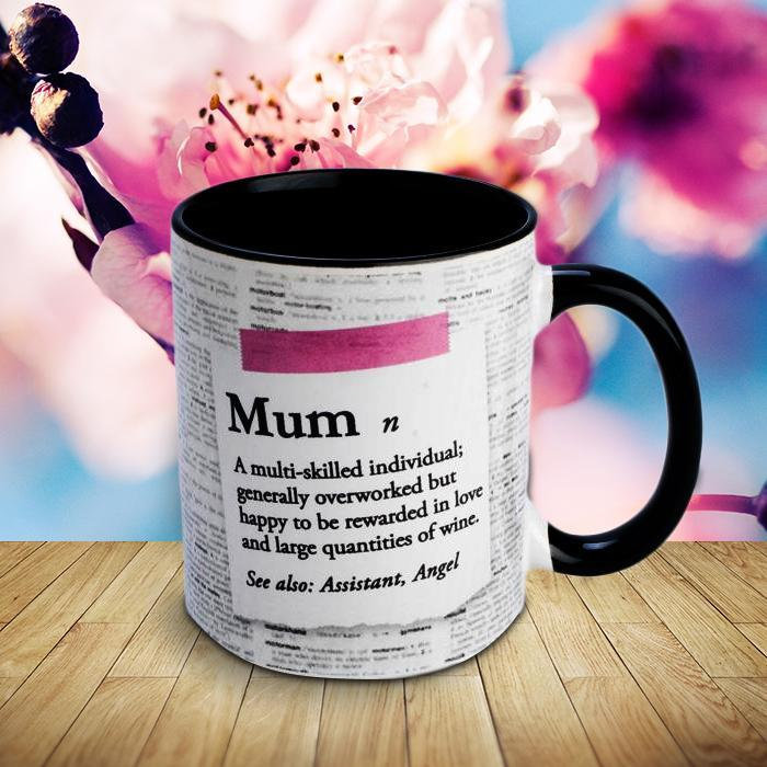 Definition of Mum Coffee Mug - - mdi - Yellow Octopus