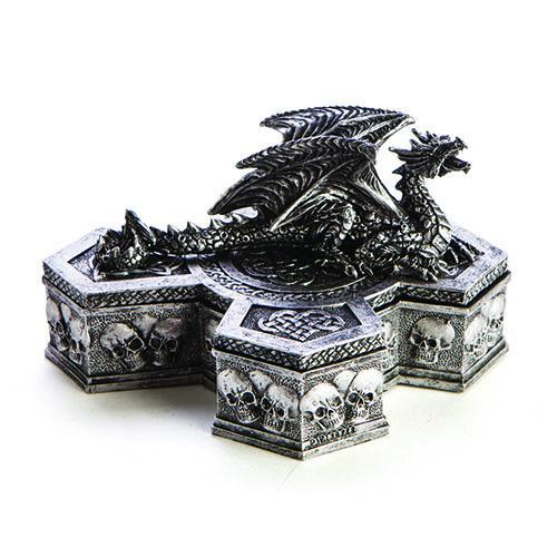 mdi Dragon Cross Trinket Box