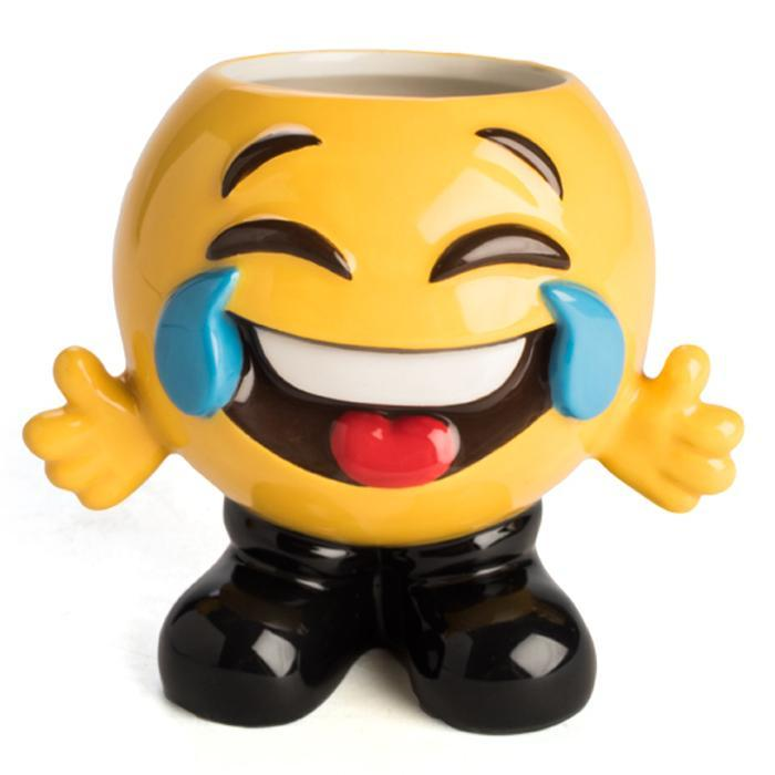 Emoji Face Tears Of Joy Mug - - mdi - Yellow Octopus