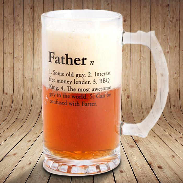 mdi Fathers Stein Beer Glass