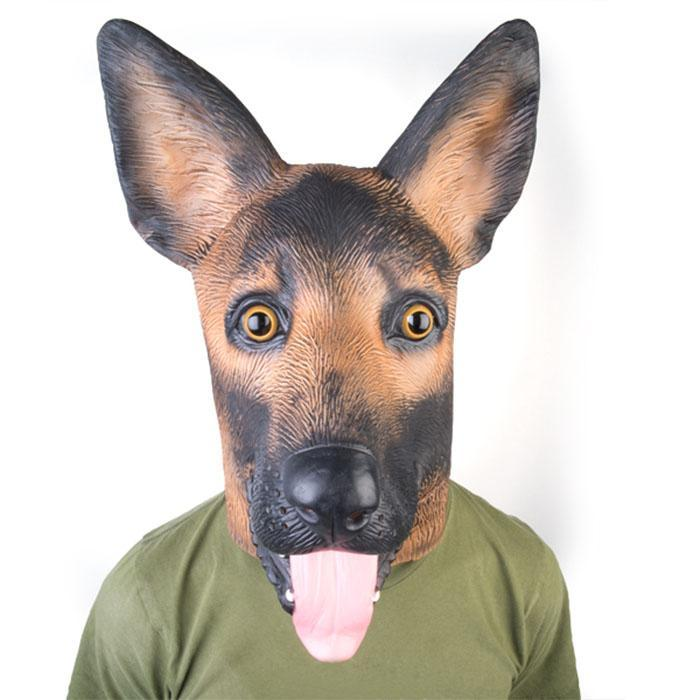 German Shepherd Party Mask - - mdi - Yellow Octopus