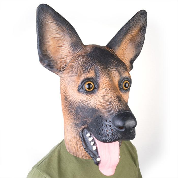 mdi German Shepherd Party Mask