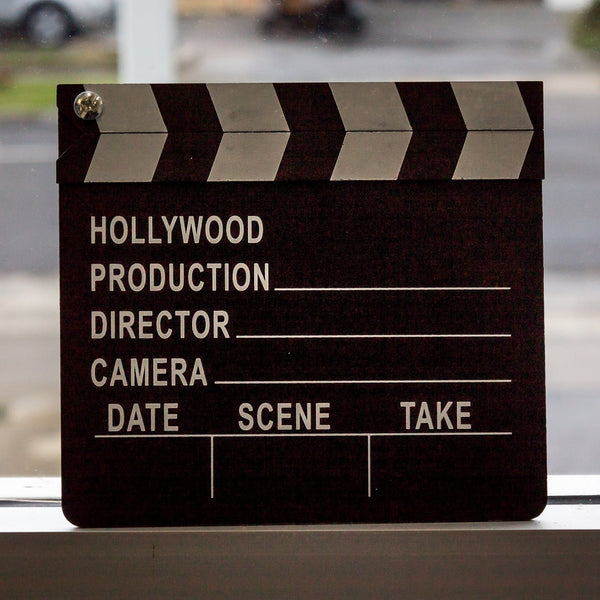 Hollywood Movie Clapper Board Lights Camera Action Take One Make Movies Yellow Octopus
