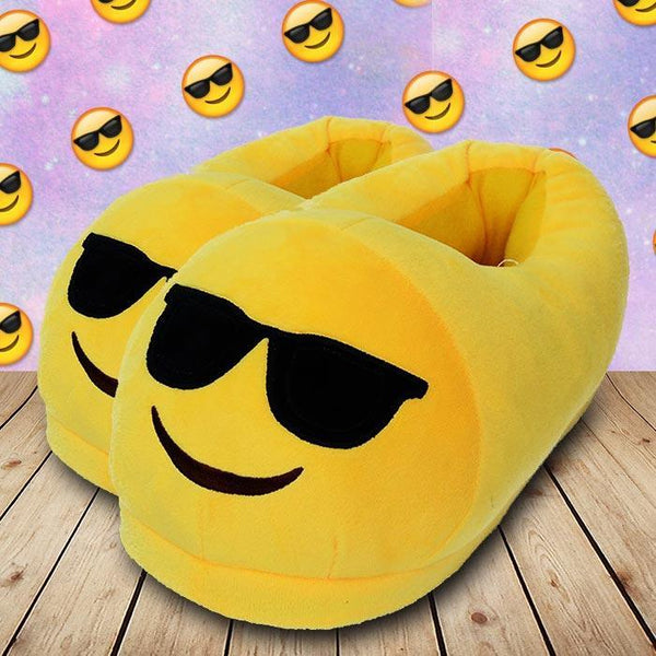 Kool Dude Emoji Face Slippers Shoes Winter Warm Funny