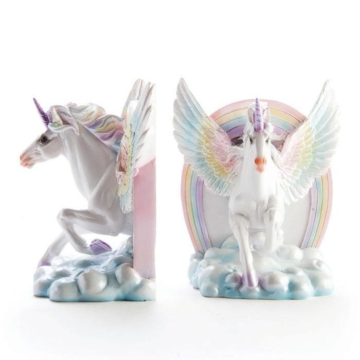 Magical Unicorn Bookends Reading Book Ends Horse Wings
