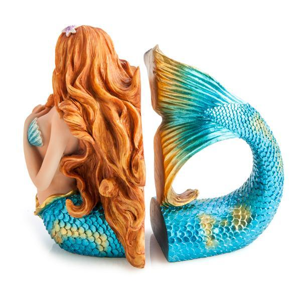 mdi Metallic Mermaid Bookends