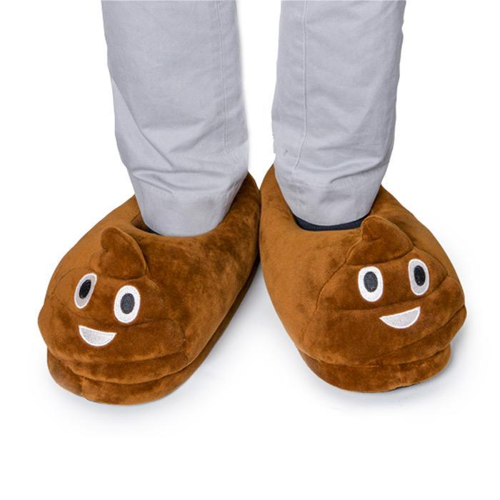 Poo Emoji Face Slippers - - mdi - Yellow Octopus