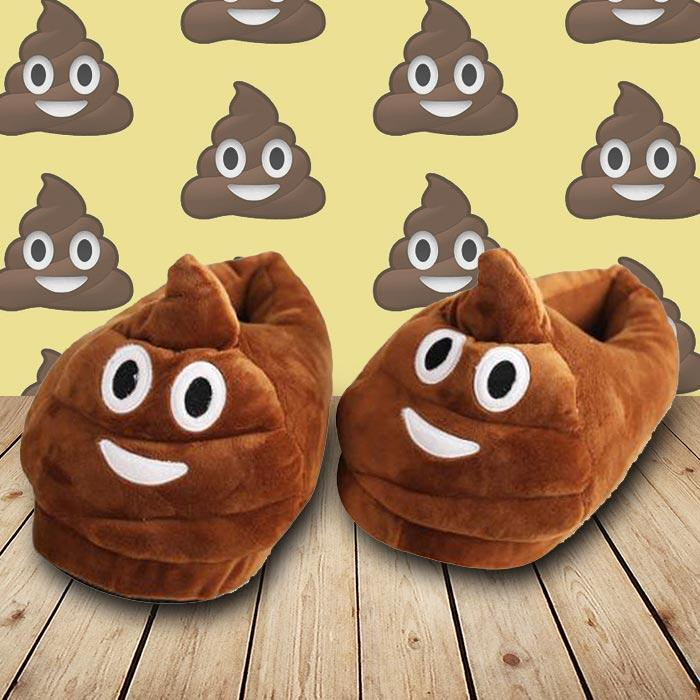 mdi Poo Emoji Face Slippers
